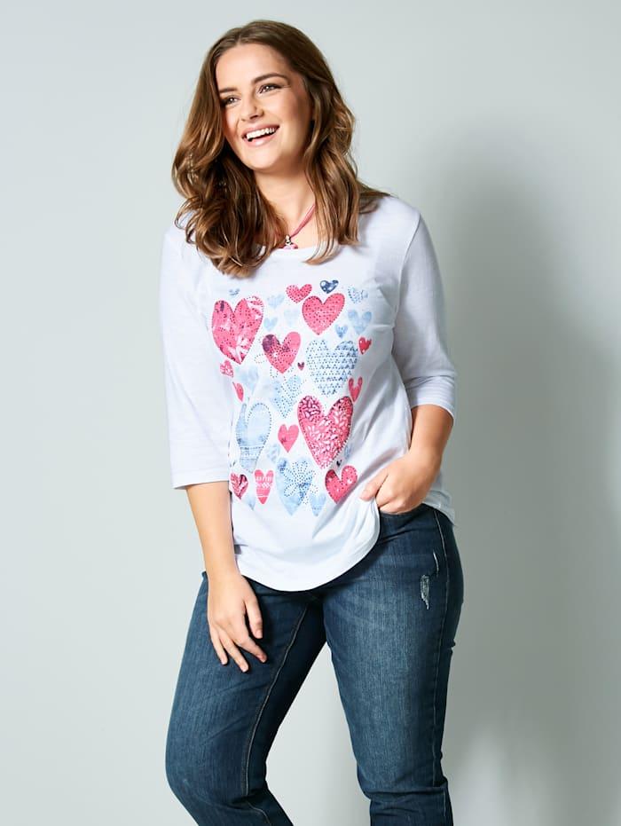 Shirt mit Herz-Print