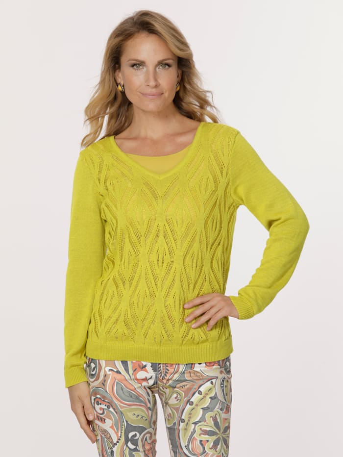 Jumper in an ajour knit