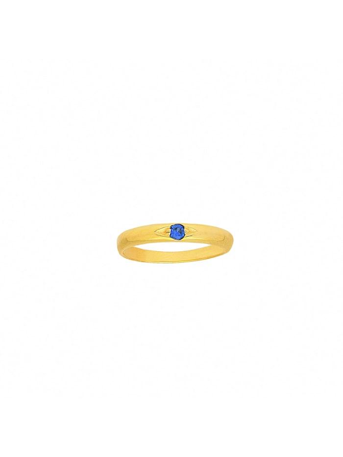 1001 Diamonds Damen Goldschmuck 333 Gold Anhänger Taufring mit Safir Ø 10,1 mm, blau