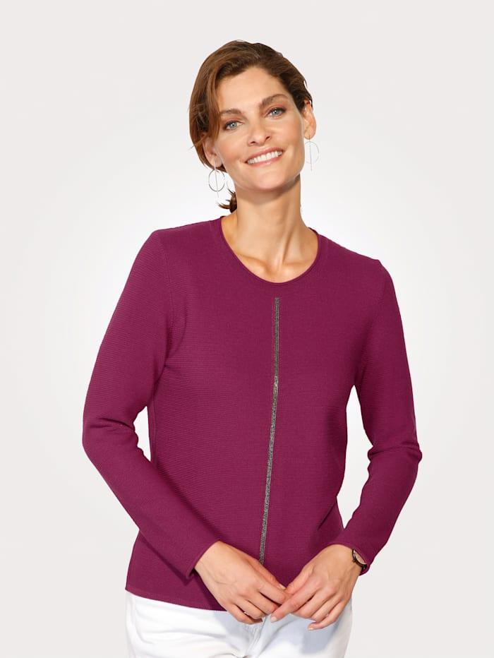 Pullover mit glänzendem Zierband