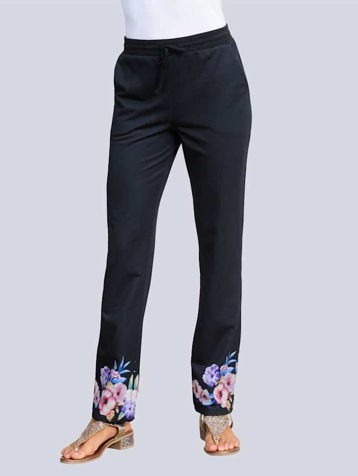 Alba Moda Strandbroek in jogpantstyle, Zwart