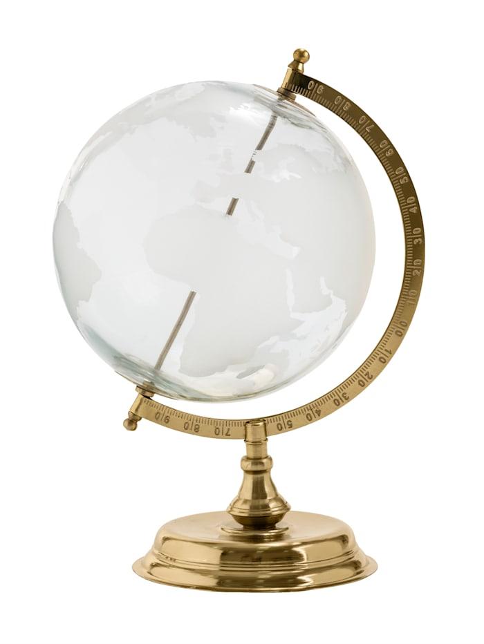 IMPRESSIONEN living Globus, goldfarben/klar/weiß