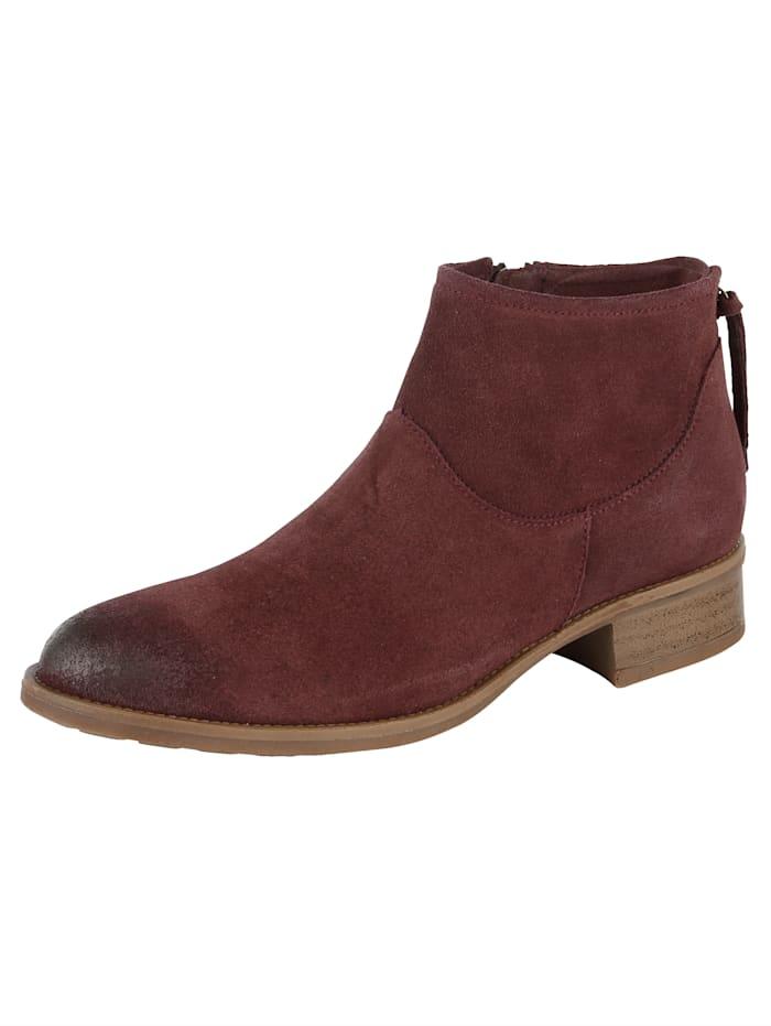 Filipe Shoes Ankelstøvlett i semsket skinn, Vinrød