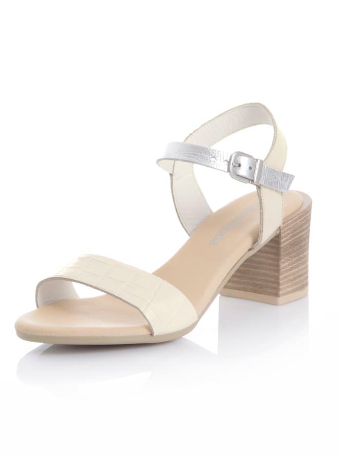 Alba Moda Sandalette aus Rindsleder, Beige
