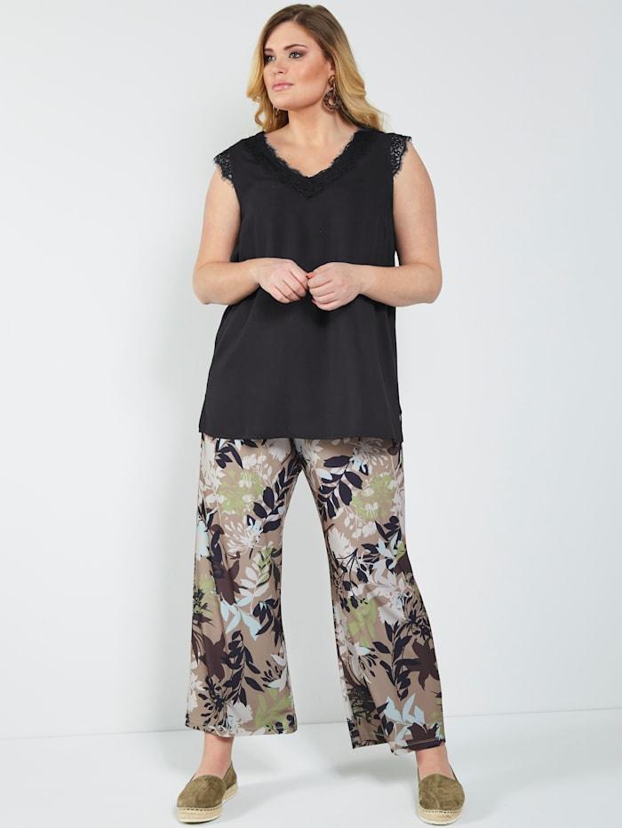 Jerseyhose mit floralem Dessin