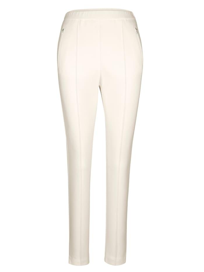 Pantalon à taille élastiquée avec biais