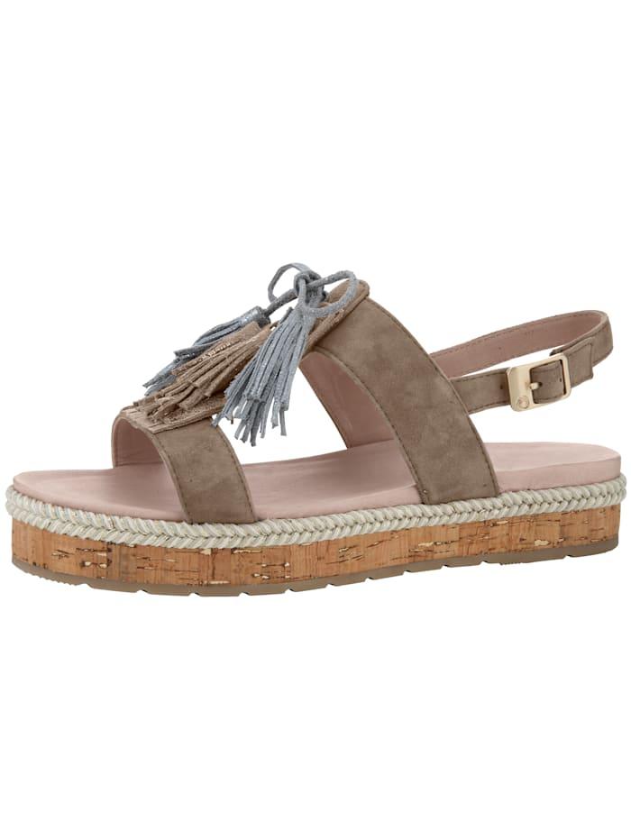 Platform sandal with plant-based tanned leather