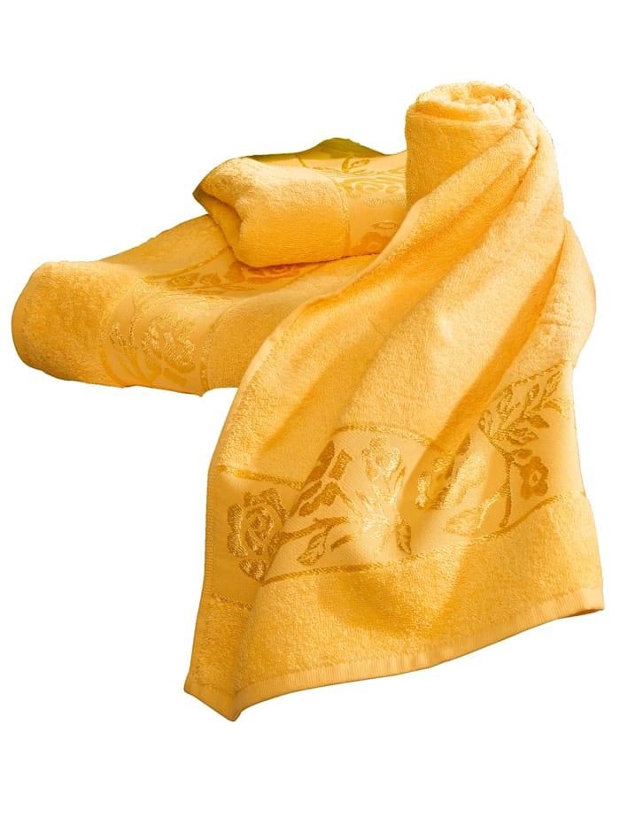 Webschatz Froteepyyhesarja, keltainen