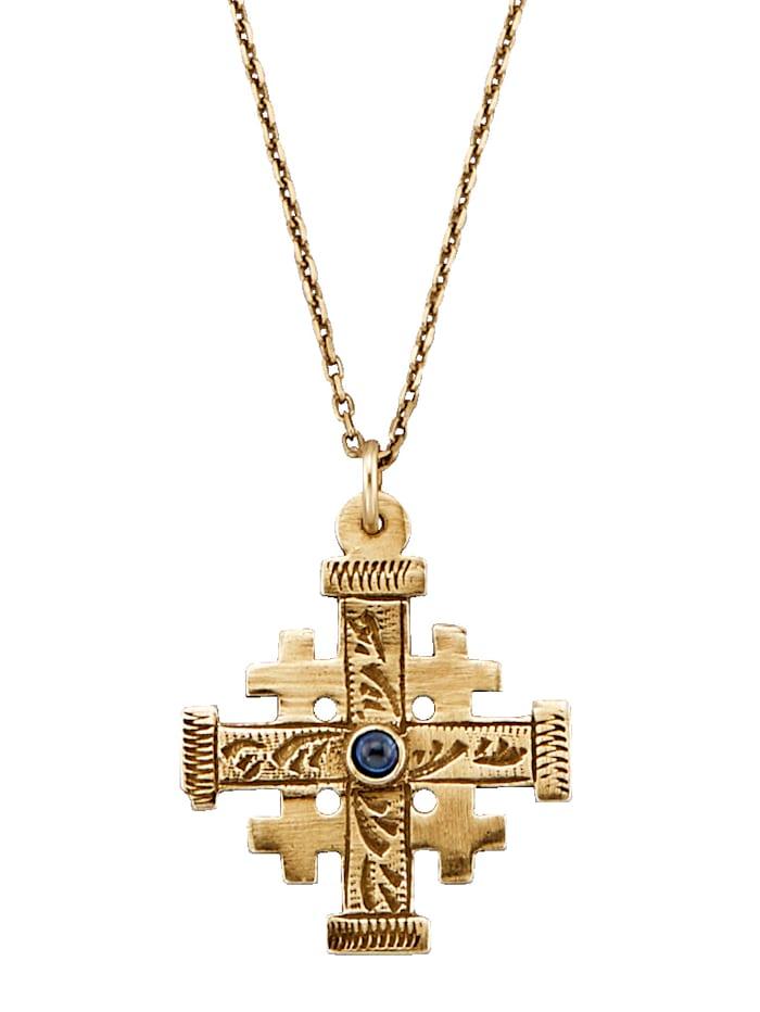 Ursula Christ Jerusalemin risti -riipus ja kaulaketju, Hopeanvärinen