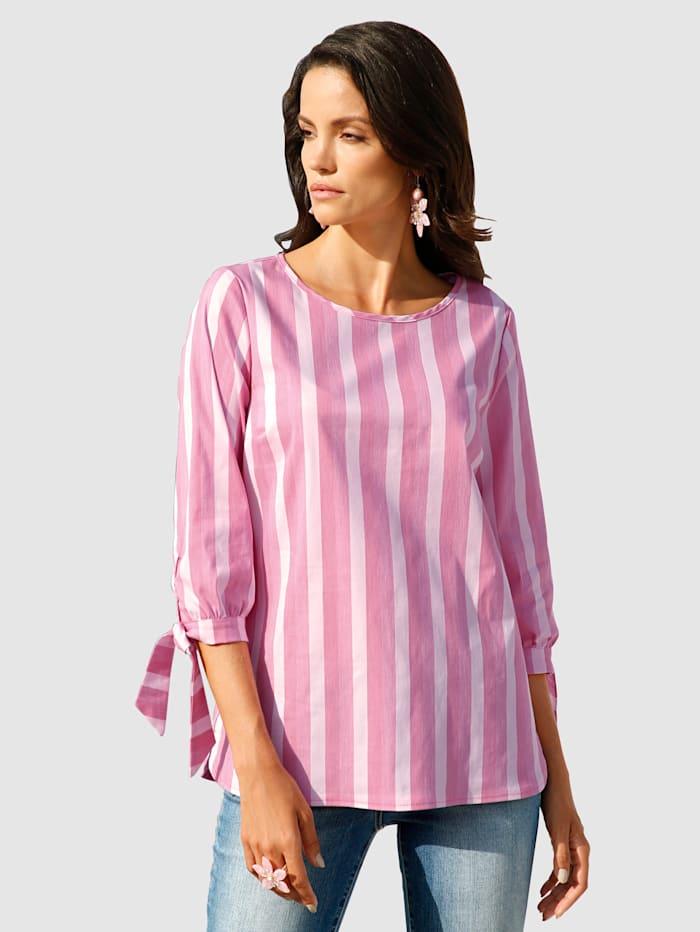 AMY VERMONT Bluse im Streifendessin, Pink/Rosé