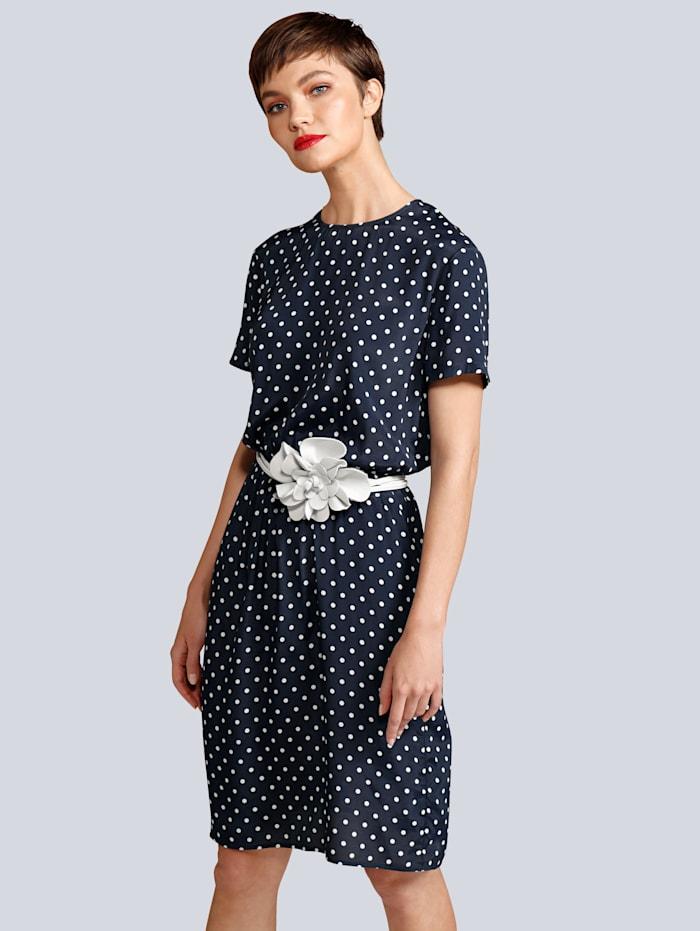 Seidensticker Kleid aus weich fließender Viskose, Marineblau