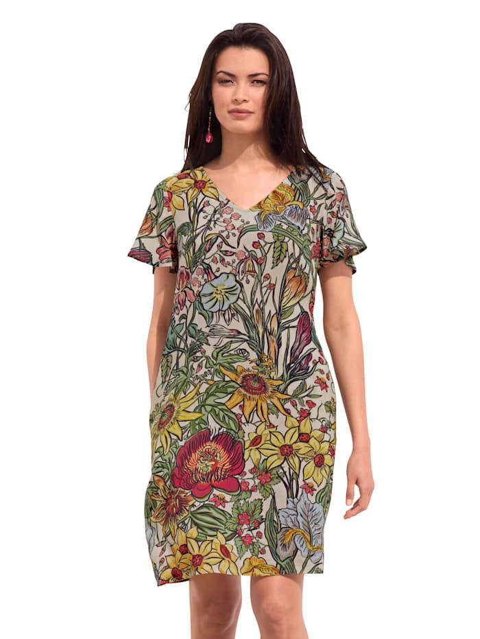 AMY VERMONT Šaty s květinovým vzorem, Bílá/Červená/Žlutá