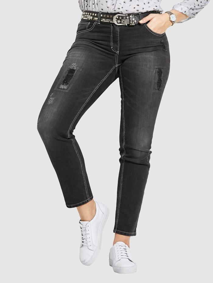 Angel of Style Jeans -Carla-, Svart
