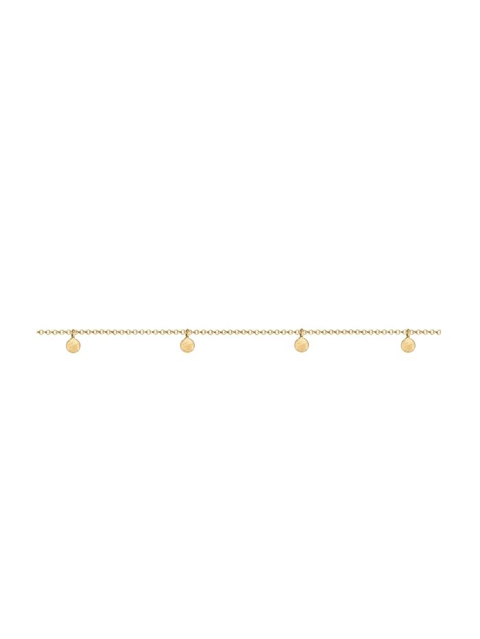 Halskette Choker Kette Geo Kreis Basic Matt Coin 925 Silber