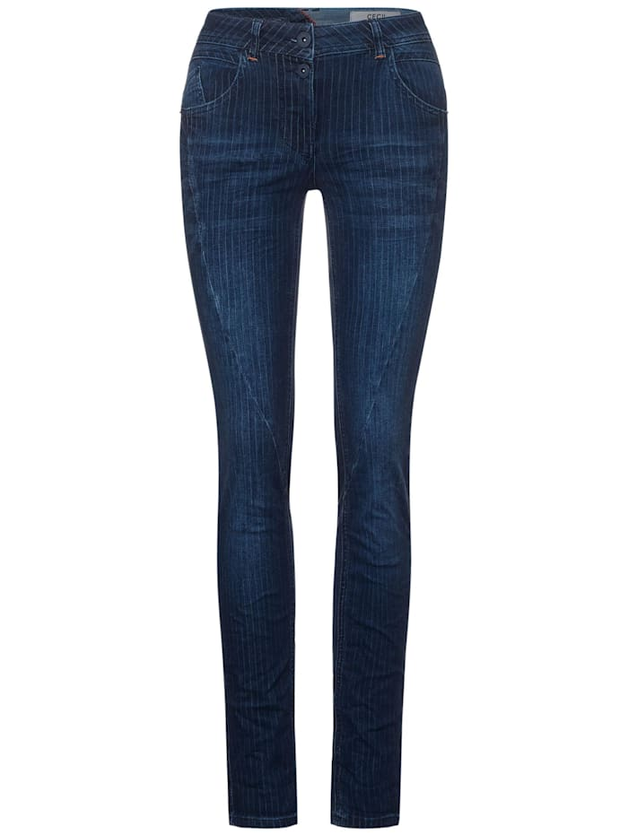 Cecil Denim mit Nadelstreifen, Dark blue Wash