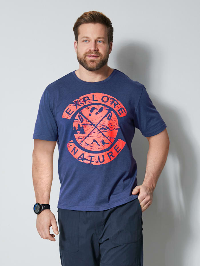 Men Plus T-Shirt schnelltrocknend, Marineblau