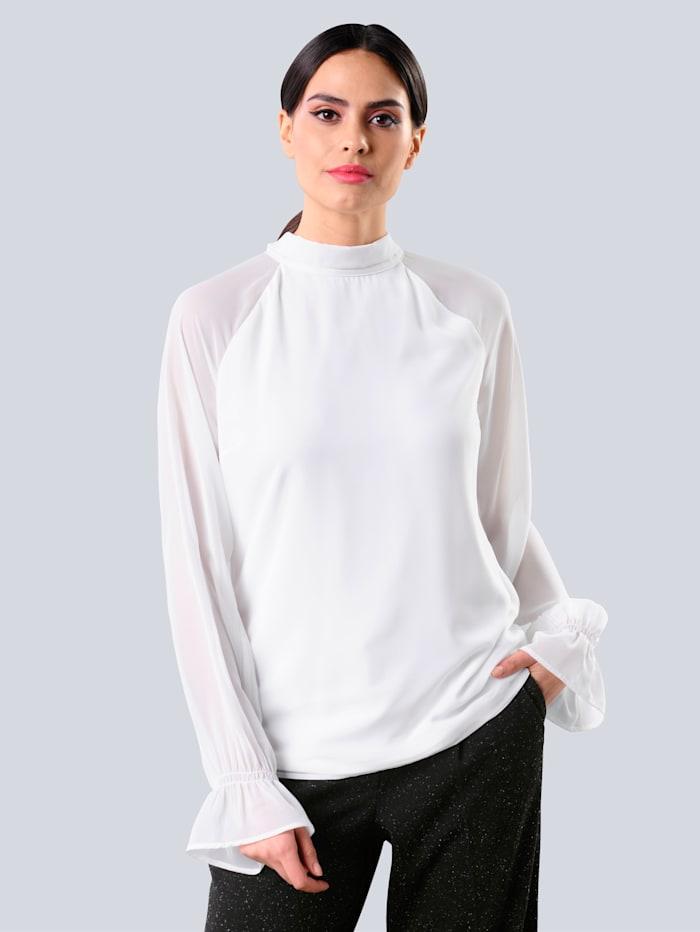 Alba Moda Bluse in Lagenoptik, Off-white