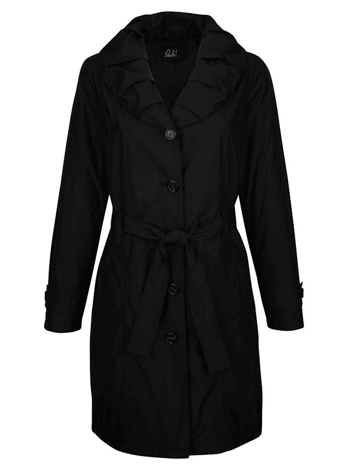 Manteau court à grand col généreux