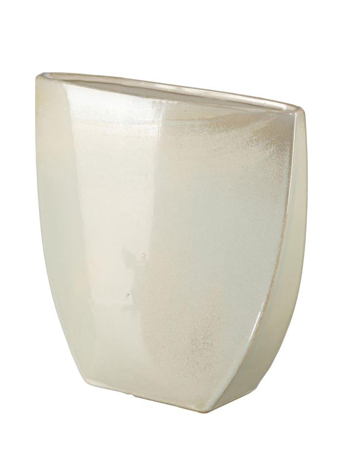 """Creativ Deco Vase """"Glow"""", Creme-Weiß"""