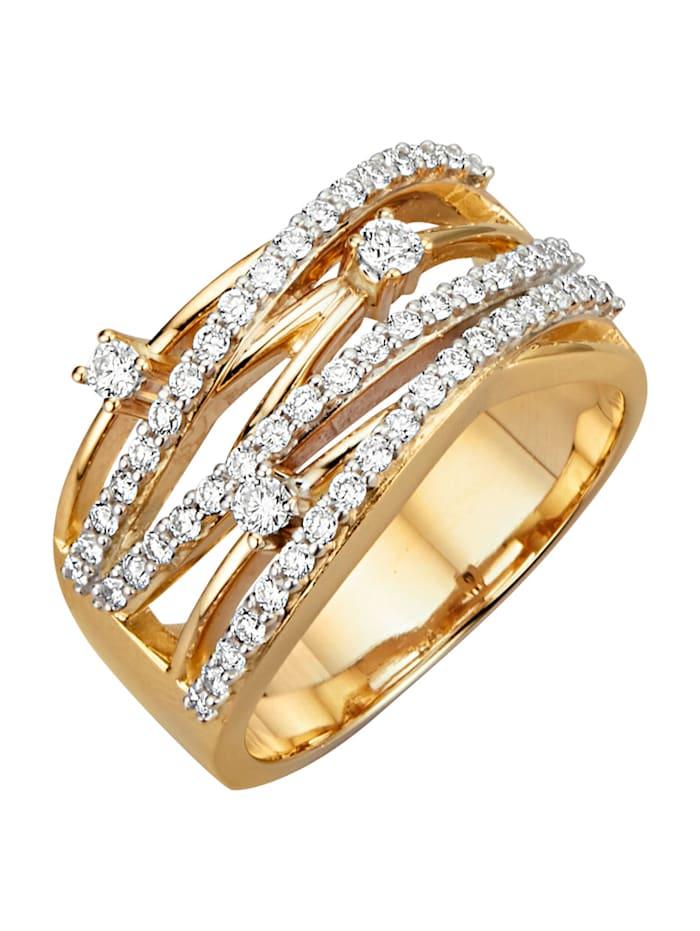Amara Diamants Bague sertie de brillants, Blanc