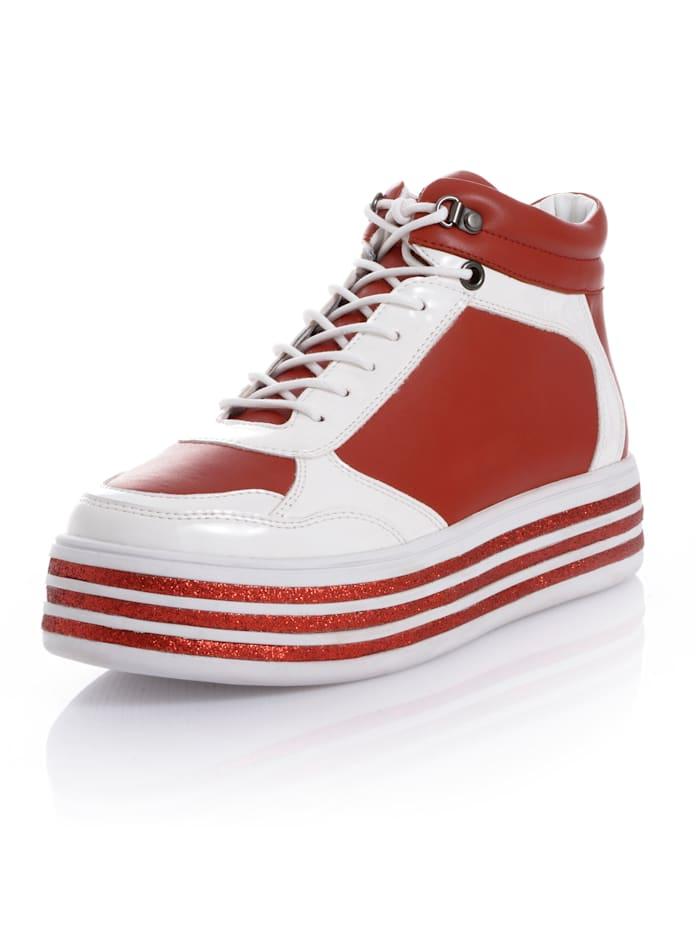 Alba Moda Hightop-Sneaker als Hingucker-Faktor, Rot/Weiß