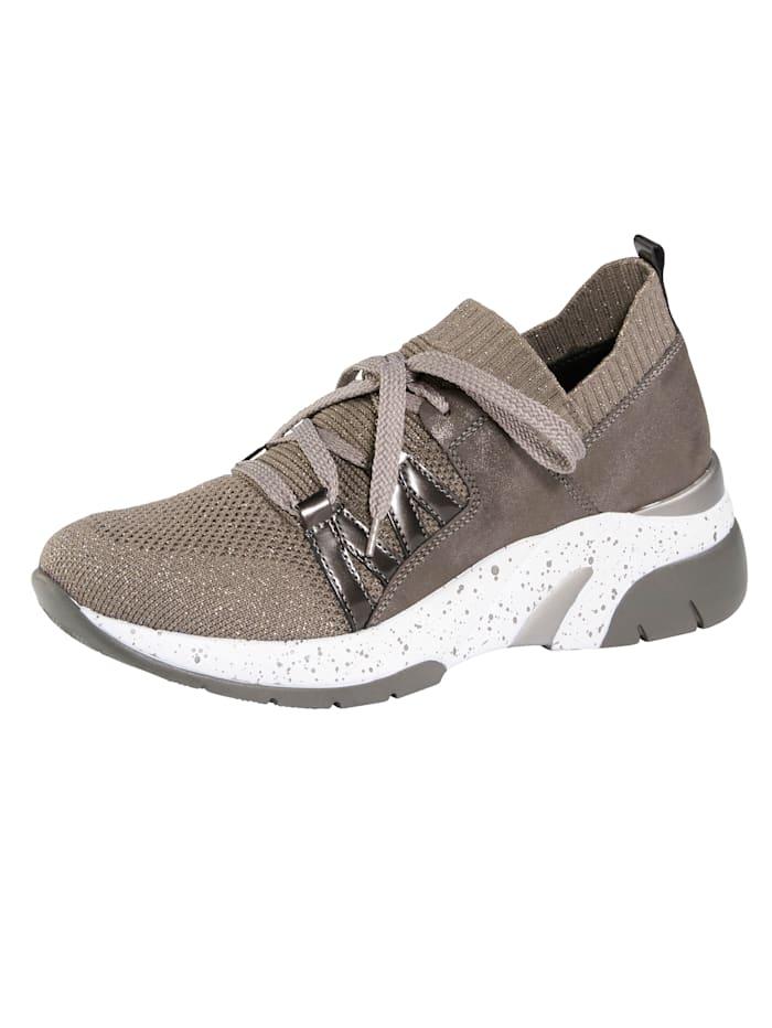 Remonte Sneaker mit SoftFoam Decksohle, Taupe