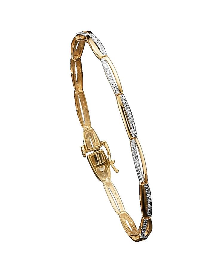 Diemer Diamant Armband med diamanter, Guldfärgad
