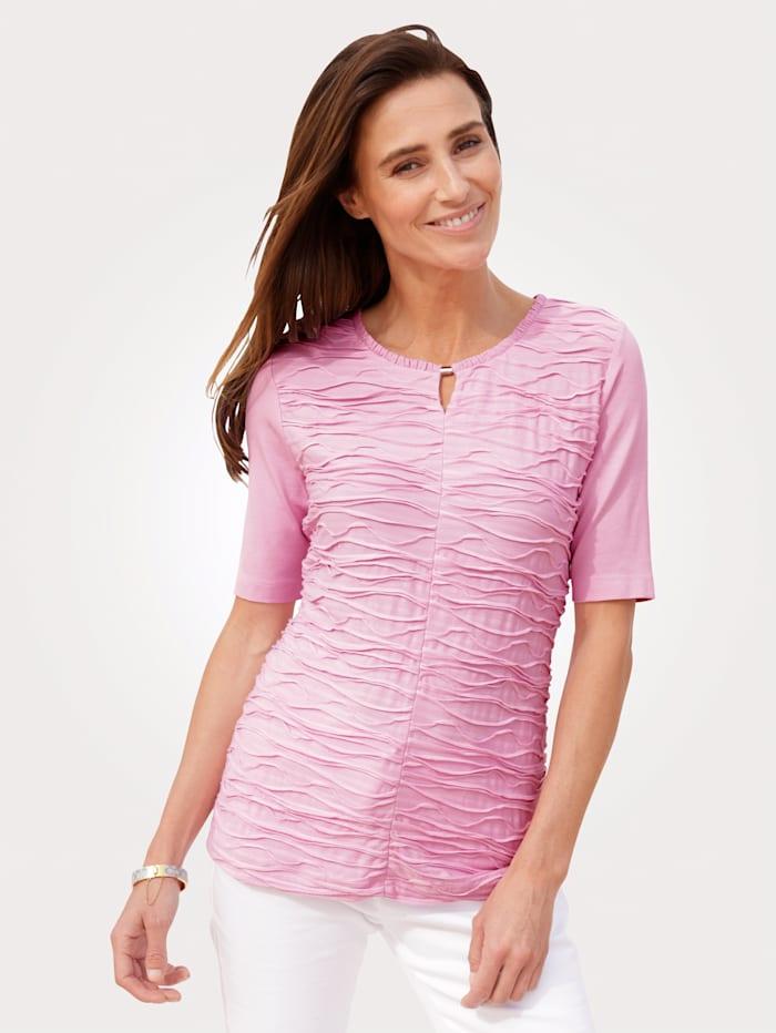 Rabe Shirt mit Wellen-Struktur, Rosé