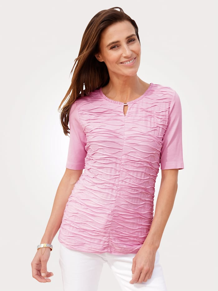 Rabe Top in a textured finish, Rosé