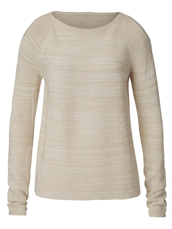 SIENNA Pullover mit Cut-Outs, Off-white