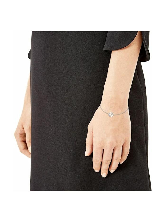Armkette für Damen mit Weltkugel-Anhänger aus 925 Sterling Silber, längenverstellbar (16+3 cm)