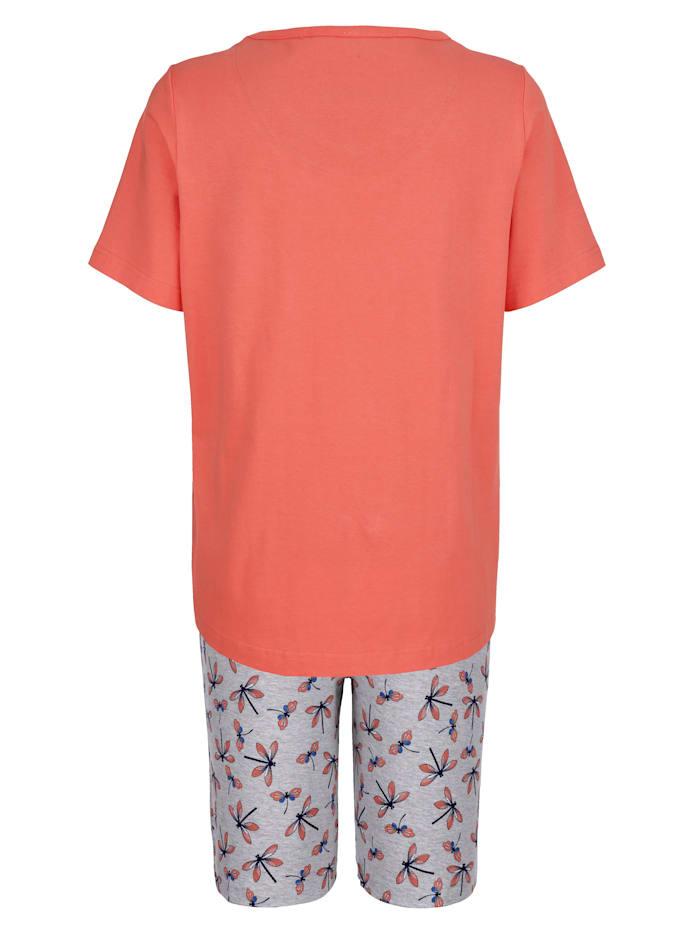 Schlafanzug mit hübscher Knopfleiste