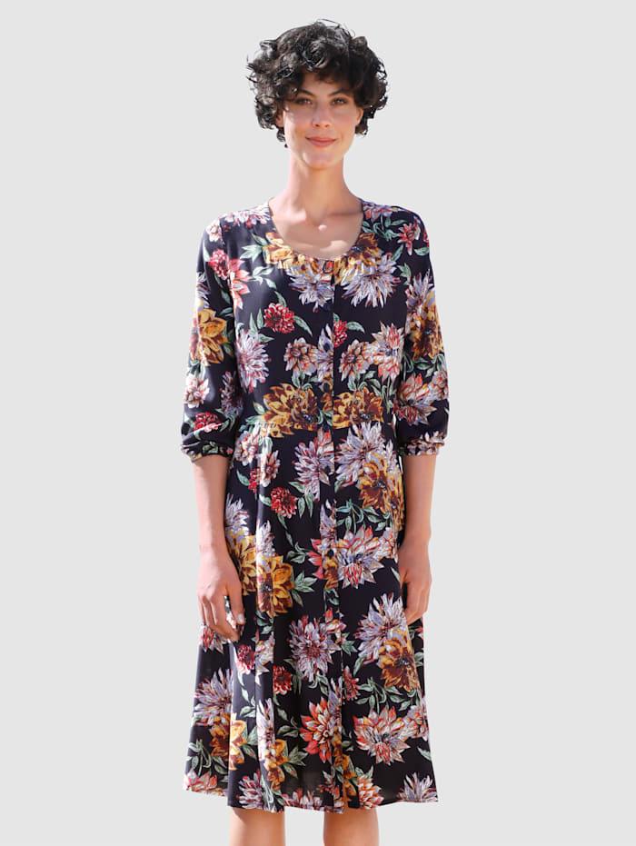 Dress In Kukkakuvioitu mekko, Laivastonsininen