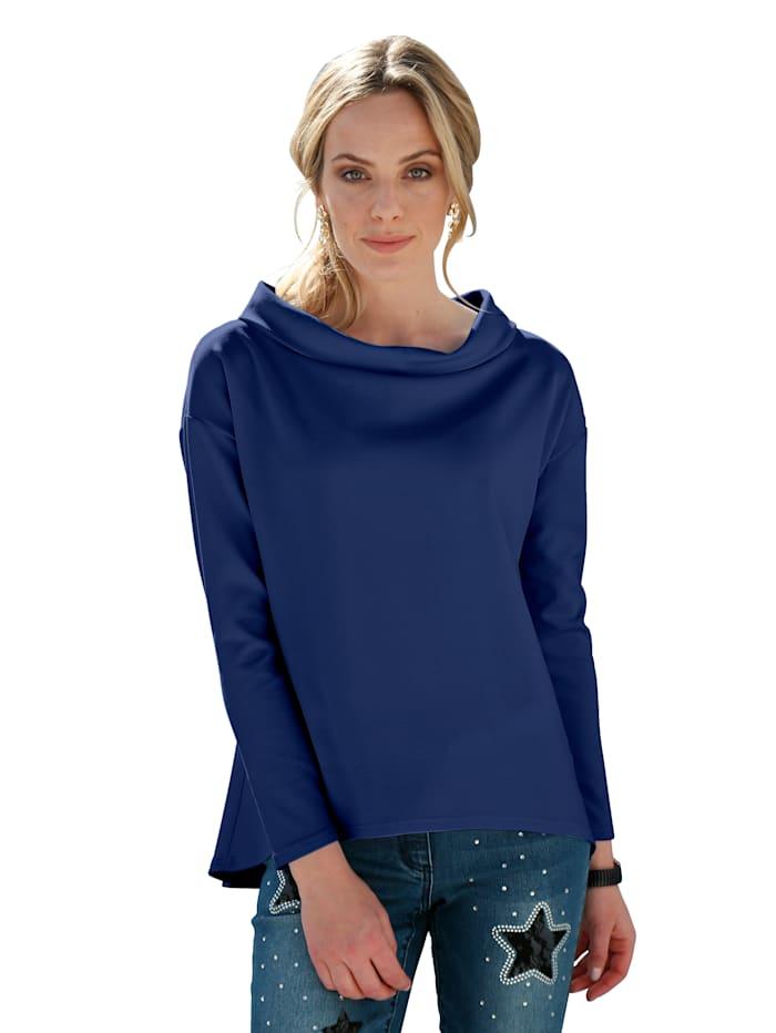 AMY VERMONT Shirt mit modischem Blendenkragen, Royalblau