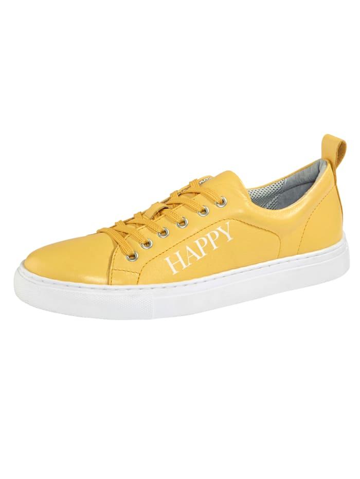 Filipe Shoes Plateausneaker mit modischem HAPPY-Schriftzug, Gelb