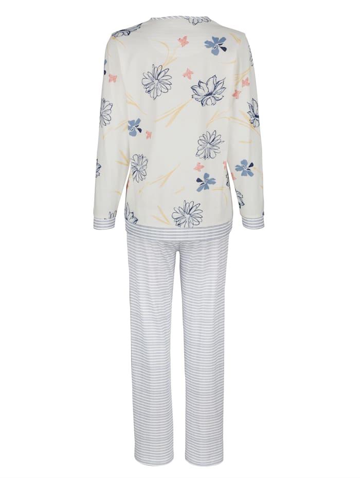 Schlafanzug mit floralem Druck