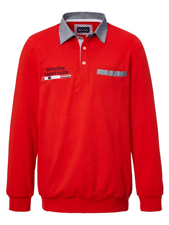 BABISTA Sweatshirt mit Kontrastdetails, Rot