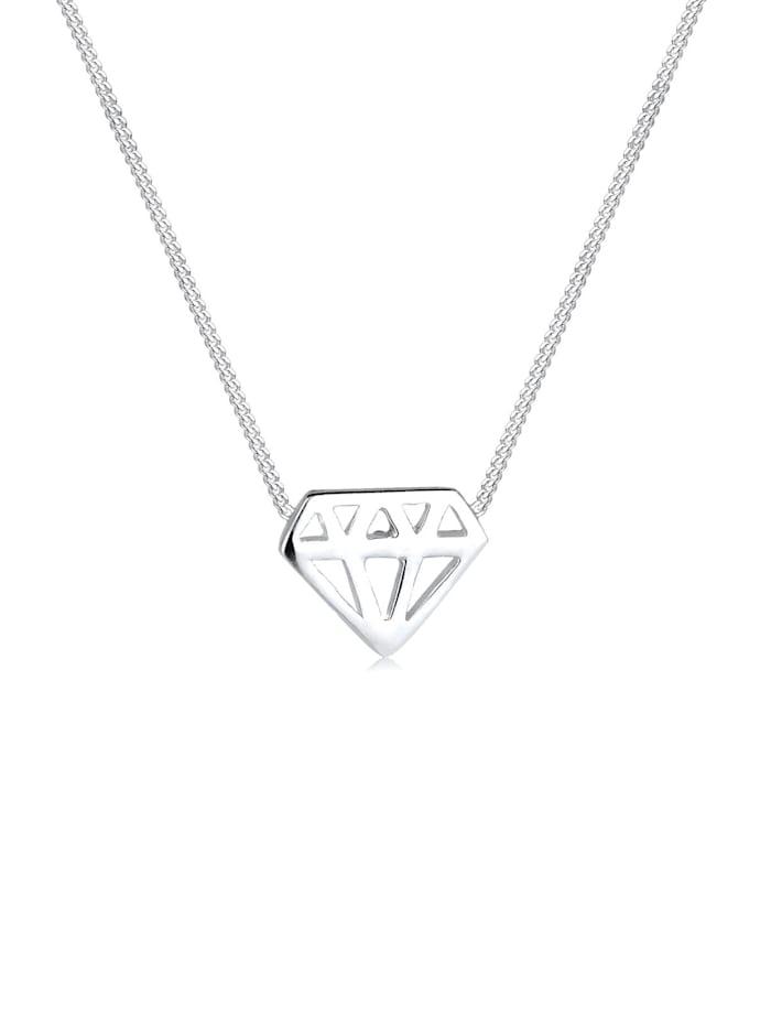 Elli Halskette Diamant 925 Sterling Silber, Silber