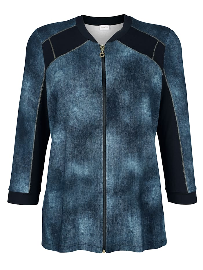 Jacket made from a chic denim-effect fabric
