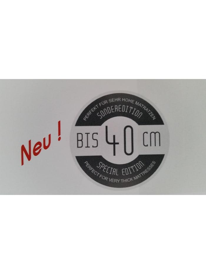 Kneer Spannbetttuch EASY-STRETCH Q251 bis 40 cm