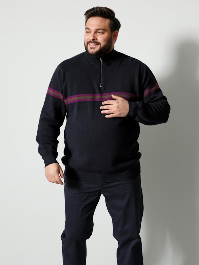 Men Plus Troyer Spezialschnitt, Marineblau/Oliv