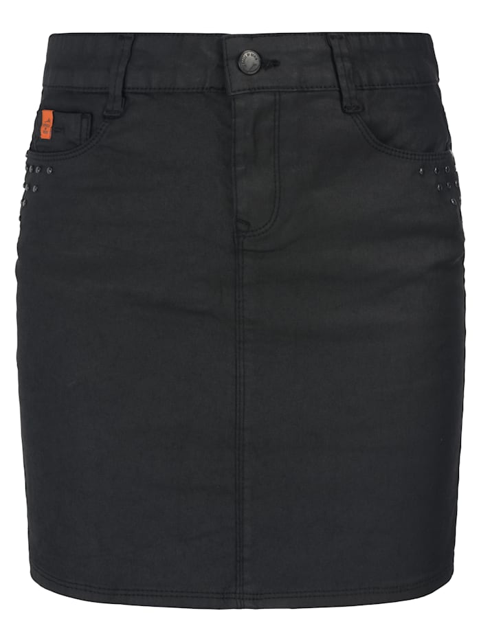 Miracle of Denim Sina Skirt, Black Coated