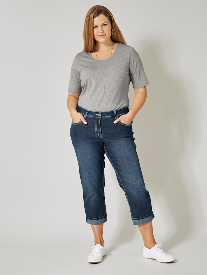 Dollywood Straight Cut Jeans Amy, Blau