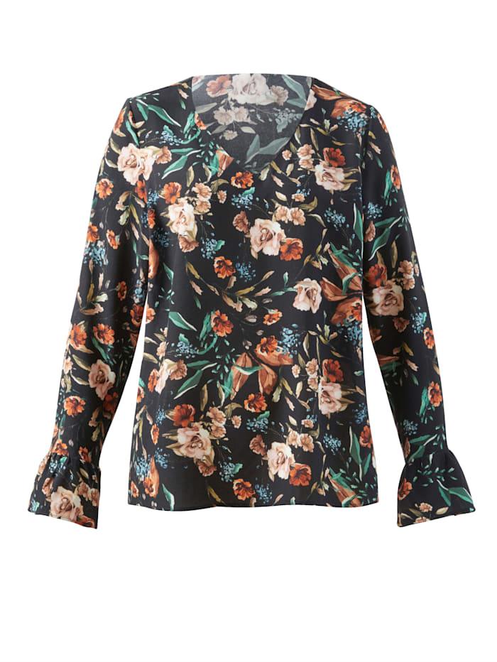 Bluse im floralen Look