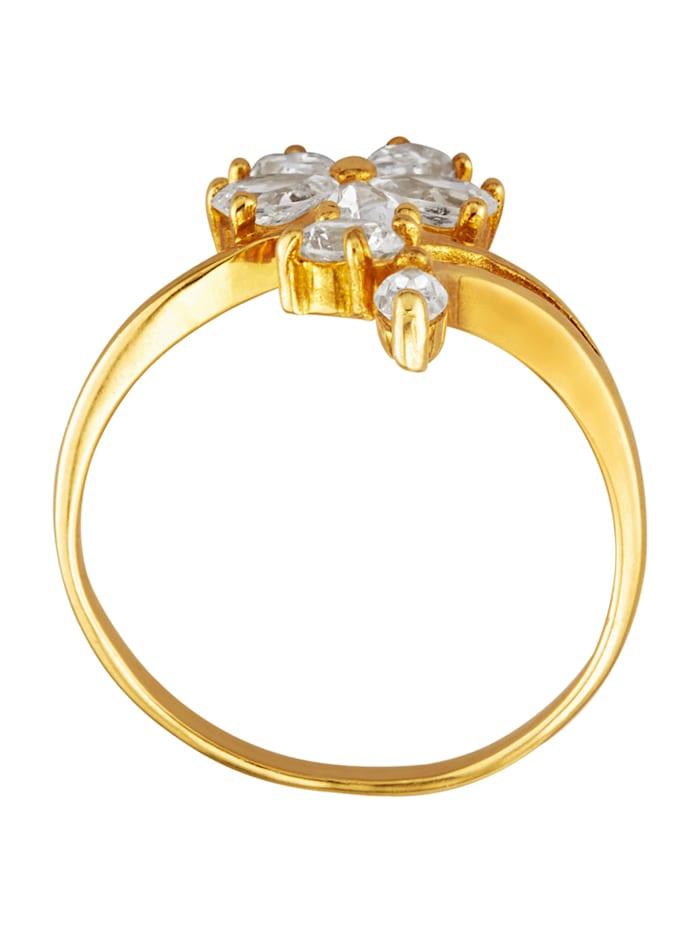 Dámský prsten s 7 bílými syntetickými zirkony
