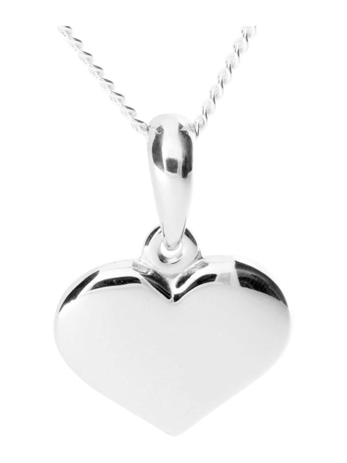OSTSEE-SCHMUCK Kette mit Anhänger - Herz 15 mm - Silber 925/000 - ,, silber