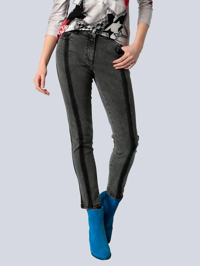 SPORTALM Jeans mit dunklen Wascheffekten, Black stone