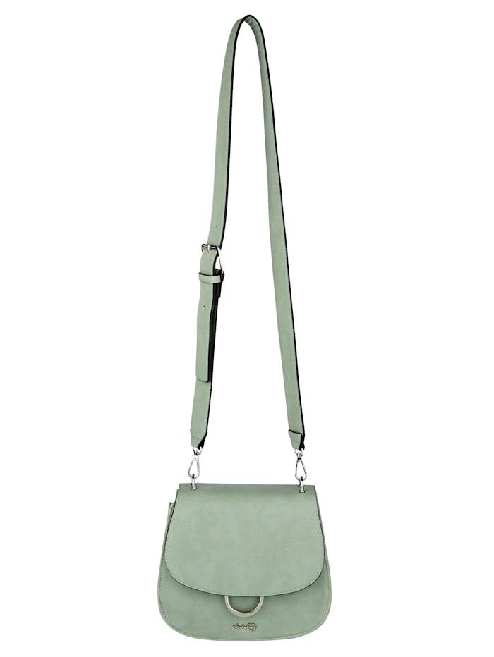 Taschenherz Shoulder bag made from a premium fabric, Sage