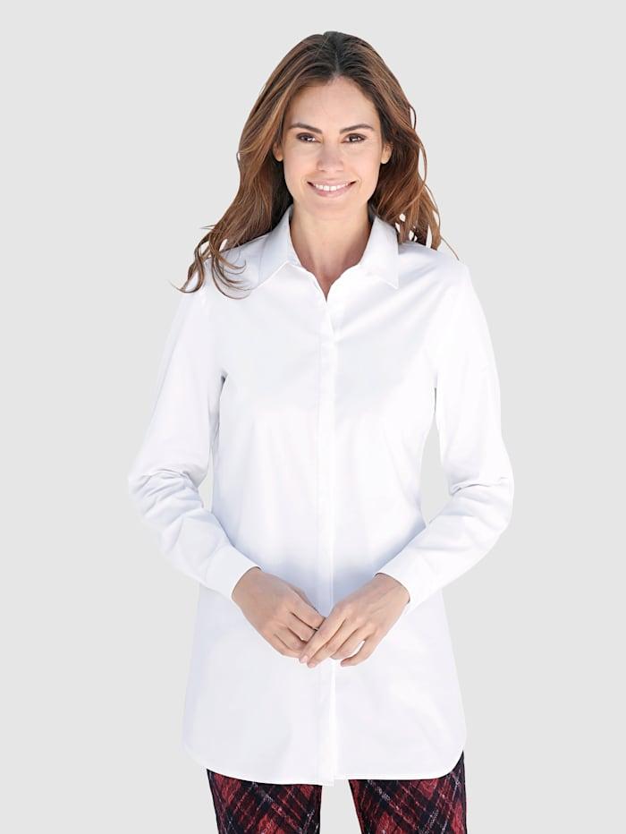 Laura Kent Chemisier long Patte de boutonnage dissimulée, Blanc