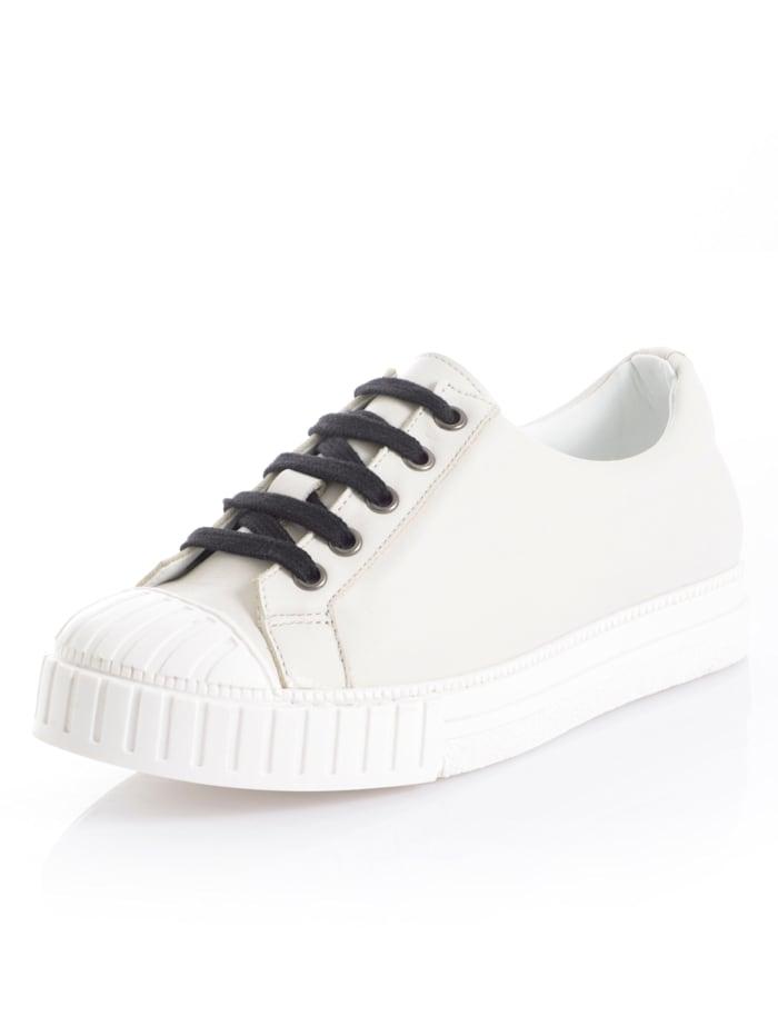 Alba Moda Sneaker in sportiver Form, Creme-Weiß/Schwarz